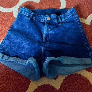 H&M High Waist Jean Shorts Size 10